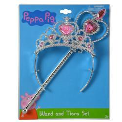 Peppa Pig Wand and Tiara set on Card