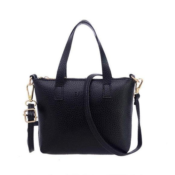 Hot Sale Fashion Women Fashion  Handbag Shoulder Bag  Tote Ladies Purse PU Leather Zipper shoulder bag