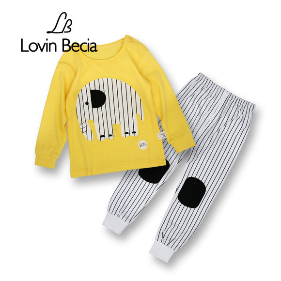 LovinBecia 2pcs Set Baby Underwear Boys Clothing Sets Cartoon Casual clothes Girls pajamas suits toddler infant kids tracksuit