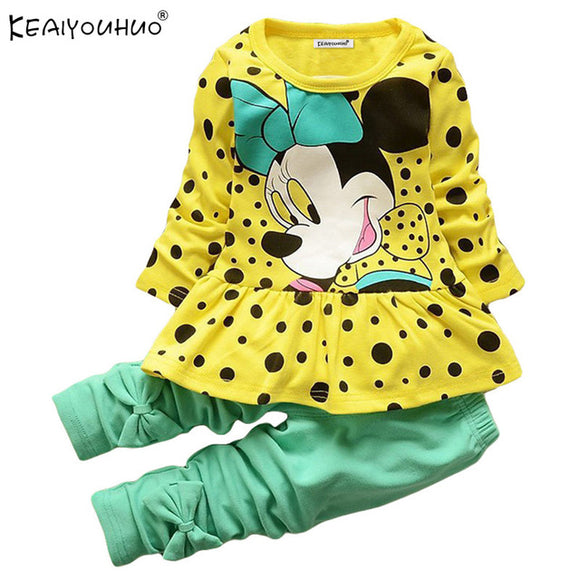 Baby Girl Clothes Spring Children Clothing Girls Sets Minnie Mouse Kids Clothes Tracksuit For Girls Sport Suit Long Sleeve+Pants