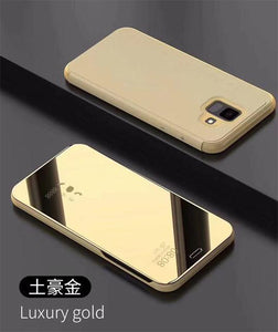 Luxury Touch Smart Flip Stand Clear View Phone Case For Samsung Galaxy A6 Plus 2018