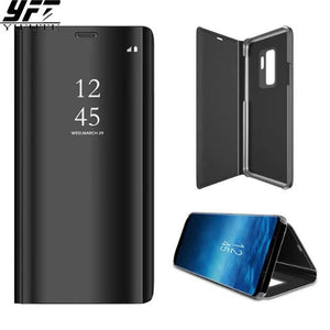 Samsung Galaxy S9 Case Smart Chip View Window Flip Mirror Cover for Samsung S9 Plus