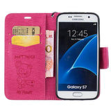 Fashion Leather Case Lanyard Coque For Samsung Galaxy S5/S6/S6 Edge/S7/S7 Edge/A310/A510/G530 PU+Silicon Wallet Stand Flip Cover