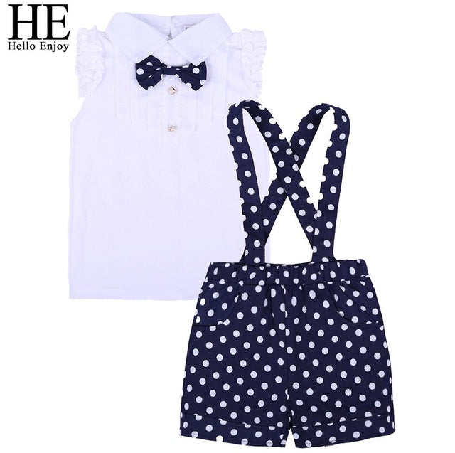 a3a98c078 HE Hello Enjoy Summer Girls Clothes Sets Children s Clothing Fashion ...