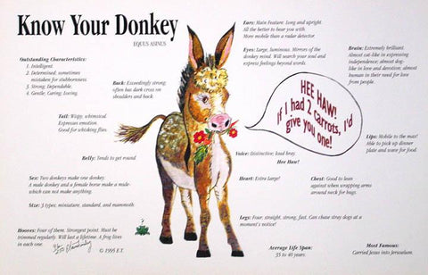 Print - 'Know your Donkey'