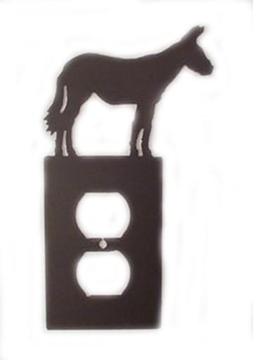 Metal Switchplate - Mule Single Outlet