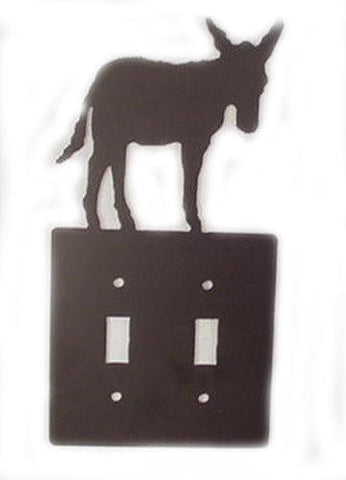 Metal Switchplate - Double Donkey