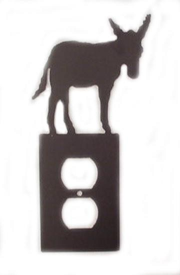 Metal Switchplate - Donkey Single Outlet