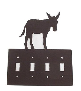 Metal Switchplate - Donkey Quad