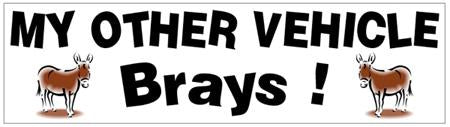 Bumper Sticker - My Other Vehicle Brays...