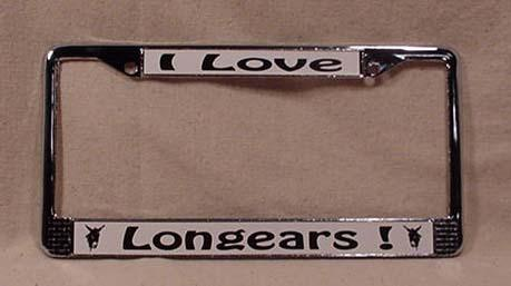 License Plate Frame - I Love Longears