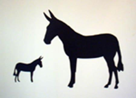 Magnet - Standing Mule Silhouette