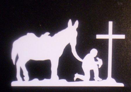 Decal - Praying Cowboy