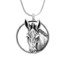 Load image into Gallery viewer, Jewelry - Donkey Head in a circle - Jane Heart Design