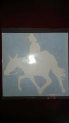 Decal - Mule and Rider