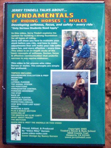 DVD - Fundamentals of Riding Horses  & Mules