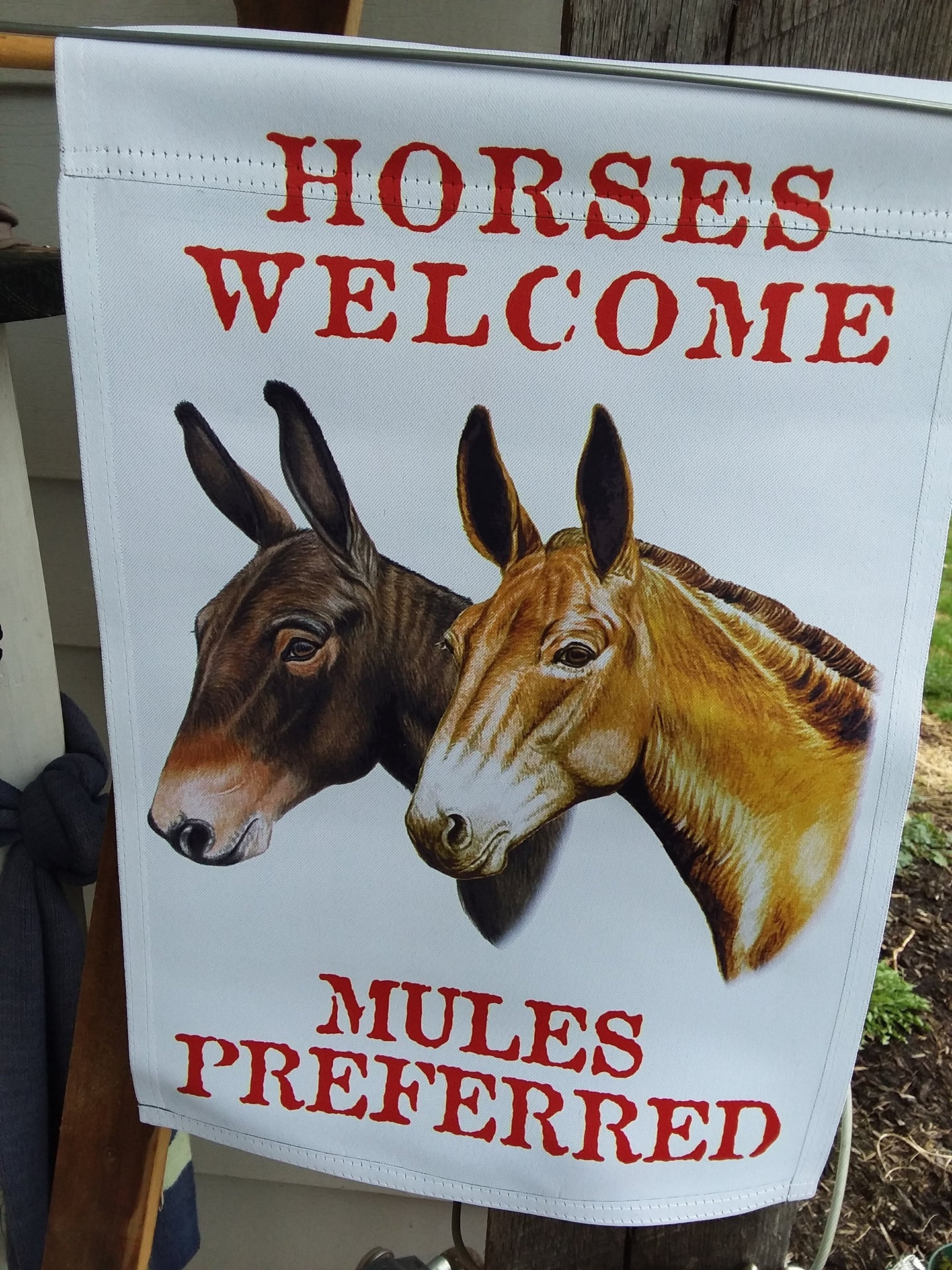 Garden Flag - Mules Preferred