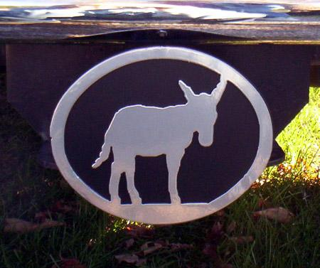 Metal Hitch Cover - Donkey