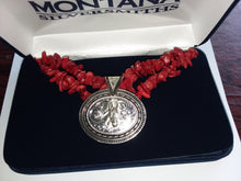Load image into Gallery viewer, Jewelry - Montana Silversmiths - Necklace Turquoise or Coral Ovals - Mule Head Silver