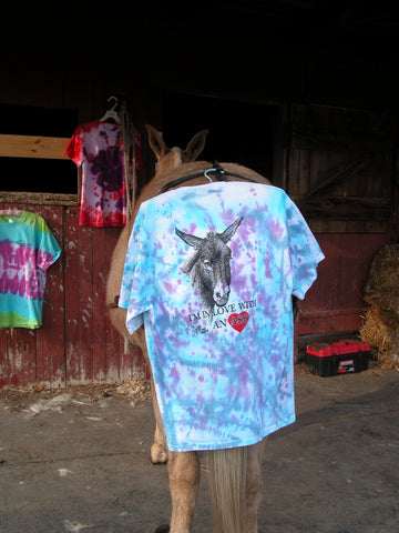 "T-Shirt - Tie Die says ""I'm in love with an ASS""!"