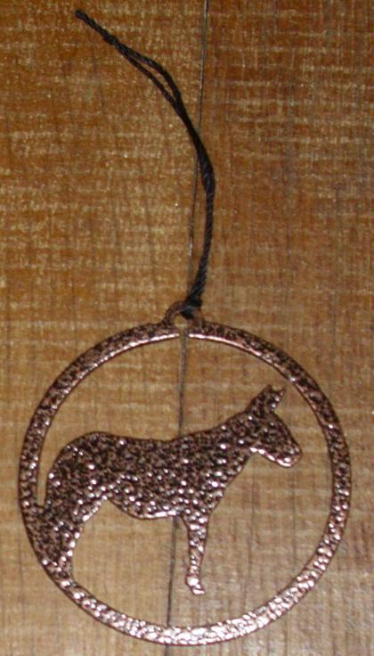 Ornament - Mule Outline Circle