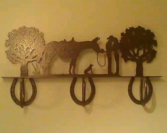 Metal Coat Rack - 3 Hook Romance Coat Rack