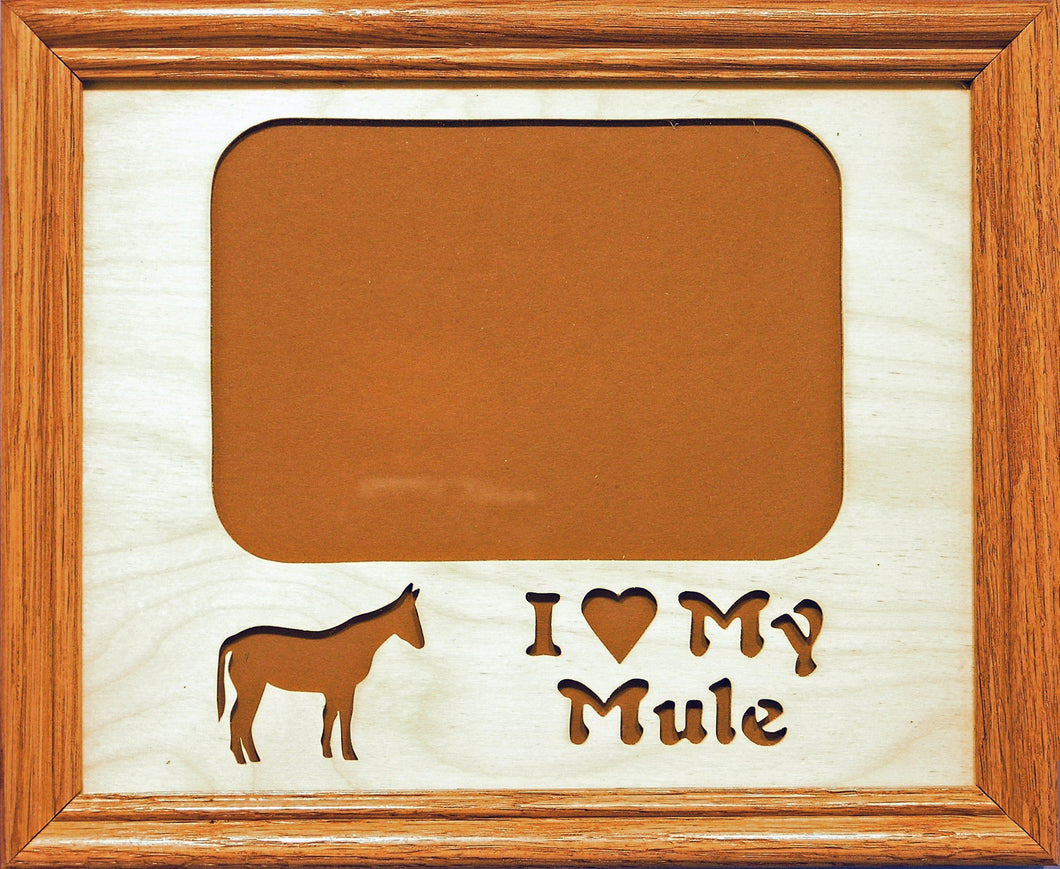 Picture Frame - I Love My Mule Insert