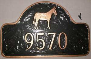 Metal House Marker Full Mule