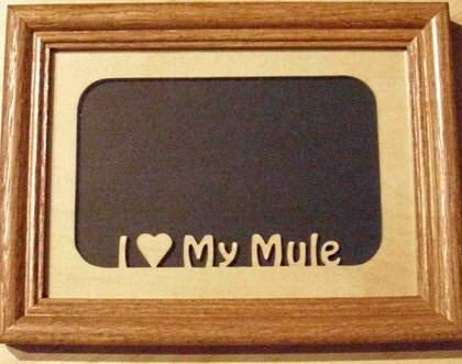 Picture Frame - 5x7 Mule picture insert
