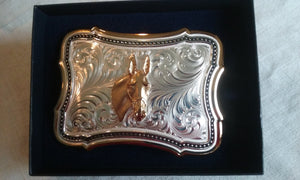 Jewelry - Belt Buckle with Mule Head