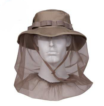 CLEARANCE SALE - Rothco Khaki Boonie Hat With Mosquito Netting