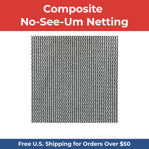 Composite No-See-Um Netting - BLACK