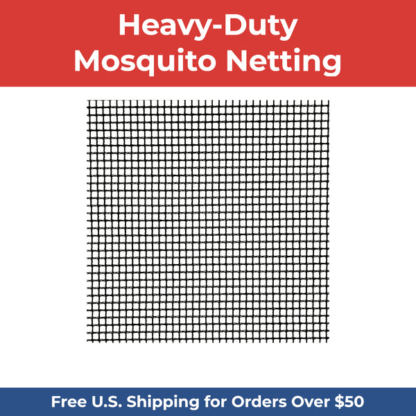 Heavy-Duty XL Mosquito Netting - DIY Porch & Patio Netting - BLACK