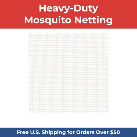 Heavy-Duty XL Mosquito Netting - DIY Porch & Patio Netting - WHITE
