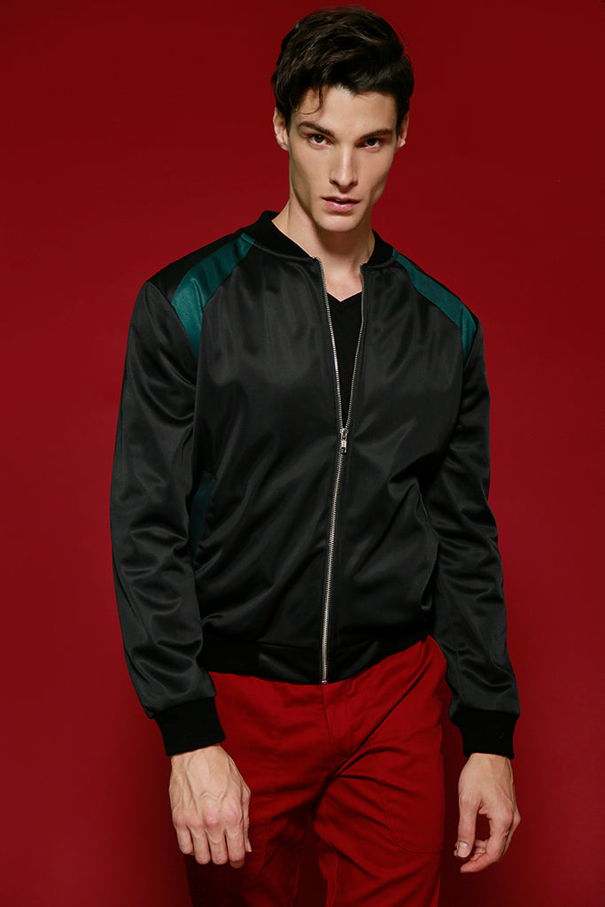 Bomber Satin Black