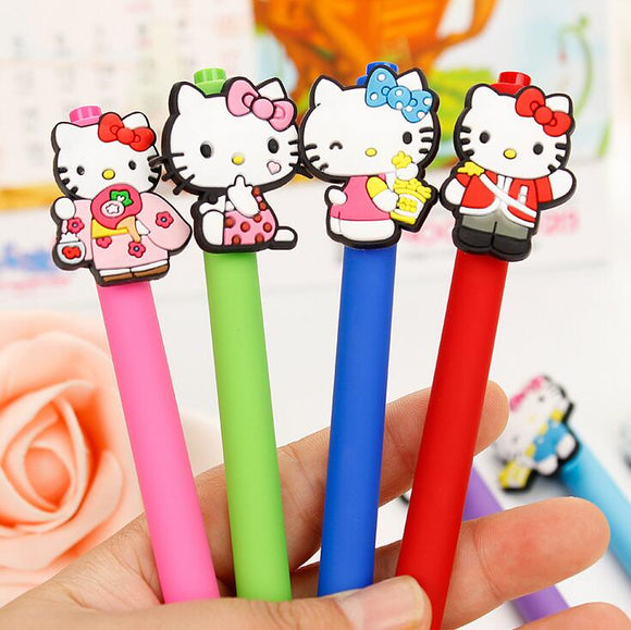 Hello Kitty Cartoon Animal Press Gel Ink Pen - Promotional Gift Stationery