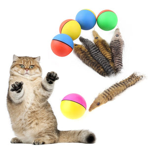 1Pcs Cat Toys Beaver Weasel Rolling Motor Ball Toy for Pet Cat Dog Kids Jumping Fun Moving Chaser Pet Products