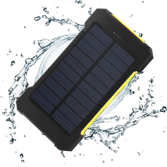 Waterproof  20000 mah Solar Powered Charger - Dual USB