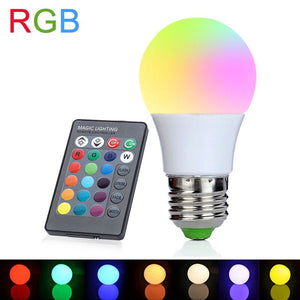 E27 RGB LED Bulb 3W 110V 220V LED Lamp 16 Colors with IR Remote Controller Lampada Lights for Home Holiday Decoration