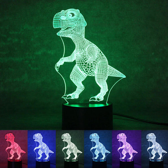 3D Dino Lamp - Visual Light Effect 7 Colors Changes