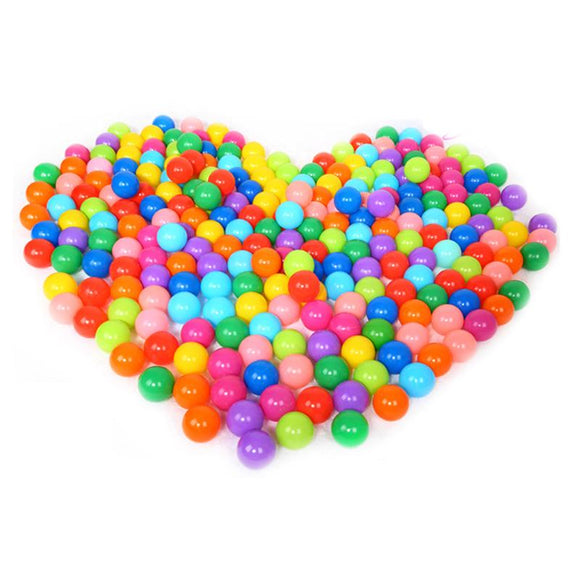 100pcs Eco-Friendly Colorful Plastic Balls - Toys Soft  Baby Swim Pit