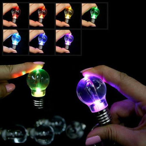 Cute Led Glowing Bulbs - Color Changing Key Ring Key chain Creative Gift Sports Key ring