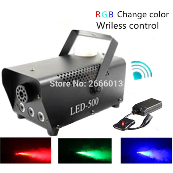 RGB Color LED Fog Machine - Wireless Control LED 500W Smoke Machine