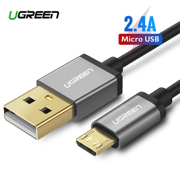 Ugreen Micro USB Cable 2.4A Fast Charging Data Cable for Xiaomi Redmi Note Huawei HTC Mobile Phone Charger Cable Micro USB Cord