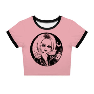 Women Gothic Short Tshirt Bride Of Chucky Printed T Shirt Demon Death Scary Horror Movie Summer Cool Punk Tee Shirts