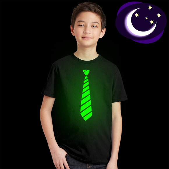 Gentleman Bow Tie Funny Print Casual Glow In Dark T Shirt for Child Boy Girl 3 4 5 6 7 8 9 10 Years Hip Hop Kids T-shirt Summer