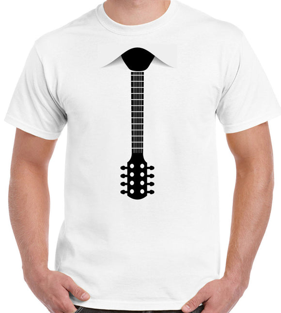 Guitar Tie - Mens Funny T-Shirt Electric Acoustic Bass Top Quality Cotton Casual Men T Shirts Men Free Shipping Five Colors