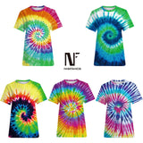 Harajuku Tie Dyeing T-Shirt Summer Funny Anime Tee Shirts Fitness Casual Men Tops 2019 Novelty Beach t shirts Hip Hop Clothes
