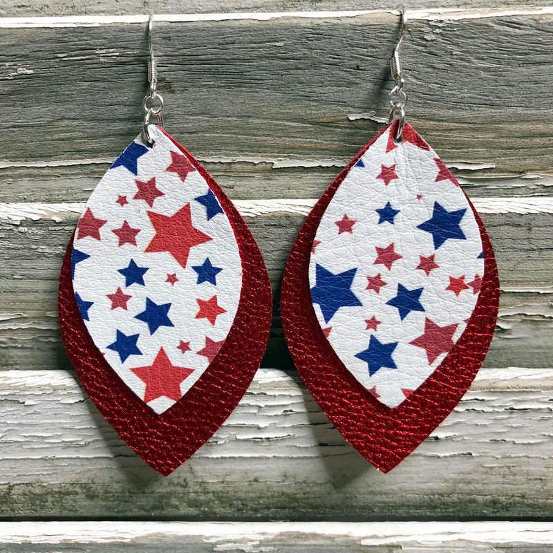 July 4th Earrings - Red