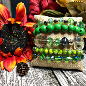 Bangle set - The mystical forest